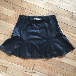 Willow and Clay faux leather skirt